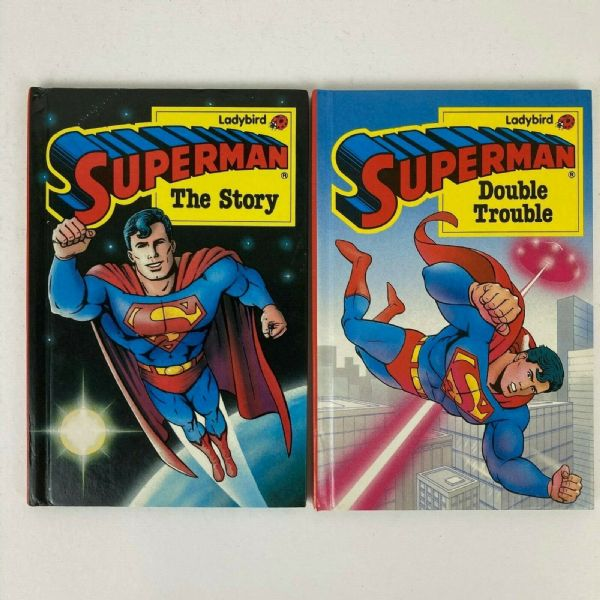 Vintage Ladybird Books Set x 2 Superman Series First Editions 1989